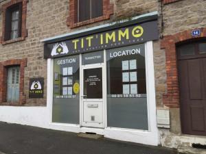 Façade de l'agence Tit'Immo